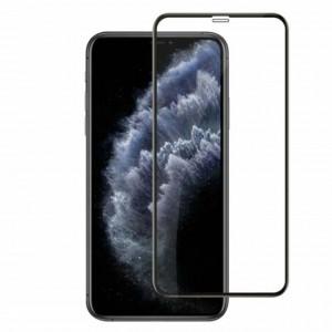 Folie protectie Premium 6D pentru iPhone 12, sticla securizata, transparent negru