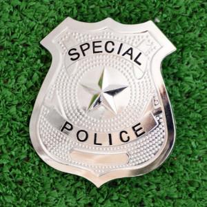 insigna pentru copii model politist