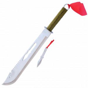 Maceta tip sabie Samurai de 67 cm cu aruncator, teaca inclusa