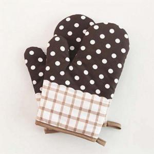 Manusa de bucatarie Brown Dots pentru gratar sau cuptor, 24 x 16 cm, maro