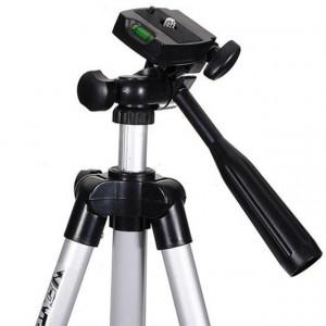 Pachet Trepied foto telescopic Weifeng WT-3110A universal 35-102 cm, husa inclusa + Trepied flexibil cu suport pentru telefon mobil sau aparat foto, Pufo