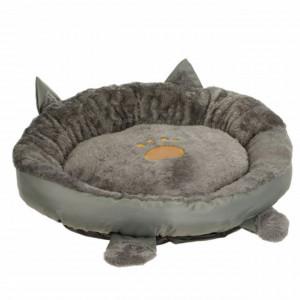 Pat confortabil rotund pentru pisici sau caini, Pufo, 50 cm