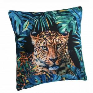 Perna decorativa mare, Pufo Leopard, pentru canapea, pat, fotoliu, 43 cm