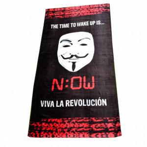 Prosop pentru plaja Anonymous- Viva la Revolution, 70 x 140 cm