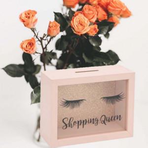 Pusculita decorativa Shopping queen 20 x 15 cm, Pufo