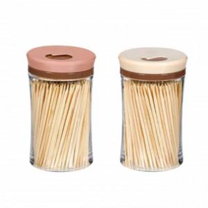 Set 2 x 250 scobitori din bambus, cutie reutilizabila