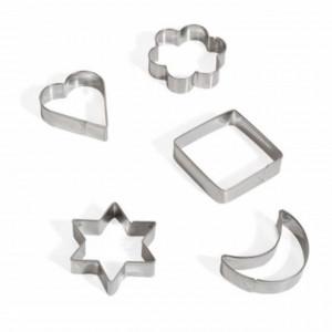 Set 5 forme metalice pentru prajituri, biscuiti, fursecuri