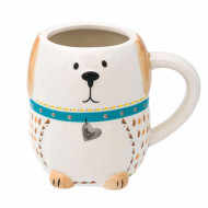 Cana din ceramica Pufo Dog, 550 ml