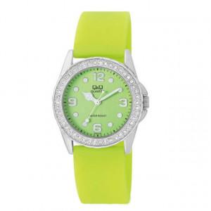 Ceas de dama Q&Q GS01J345Y silicon verde