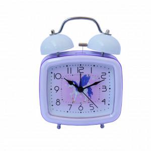 Ceas de masa desteptator pentru copii Pufo Joy, cu buton de iluminare cadran, 16 x 12 cm, model Unicorn