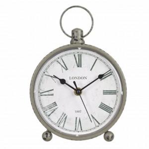 Ceas de masa, model Pufo Vintage, 19 x 16 cm, gri