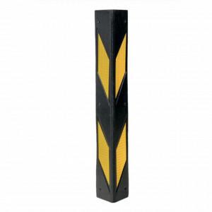 Coltar protectie pereti din cauciuc pentru parking auto sau garaj, cu benzi eflectorizante, 59 x 7,5 cm