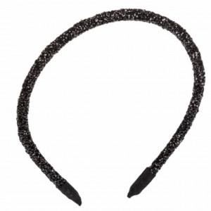 Cordeluta eleganta pentru par Shine Black neagra, lucioasa