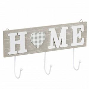 Cuier suport din lemn Pufo Home pentru chei, 29 cm