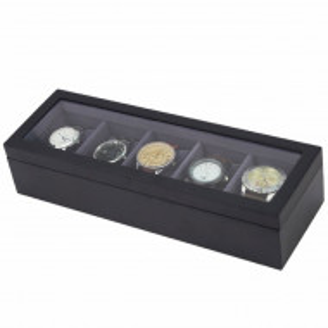 cutie caseta lemn pentru 5 ceasuri