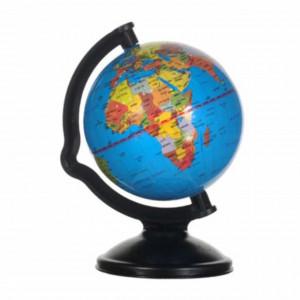 Glob geografic pamantesc scolar cu harta politica, 10 cm, Pufo