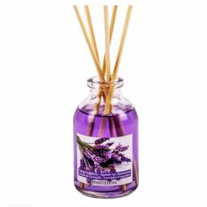 Mini odorizant parfumat cu ulei de lavanda si betisoare, pentru camera, living, dormitor, etc, 30 ml, Pufo