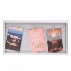 Panou Pufo Sparkle pentru fotografii cu cleme, 42 x 22 cm