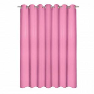 Perdea roz Pink bonbon, 140x250cm, Pufo