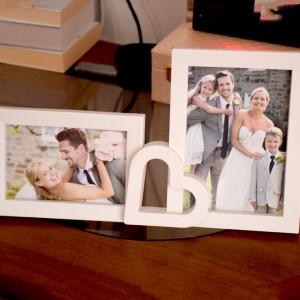Rama foto decorativa cu 2 poze, model You love me, 35 cm