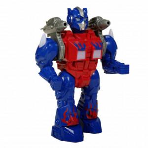 Robot de jucarie pentru copii Pufo, cu sunete si lumini, albastru, 25 cm