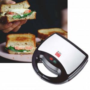 Sandwich maker Digi 0.1 cu placi antiaderente, 750 W, gri