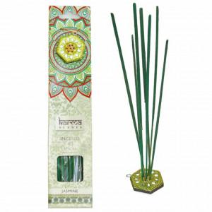 Set 40 betisoare parfumate cu aroma de iasomie si suport, potrivit pentru aromaterapie, Pufo