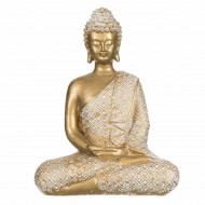 Statueta decorativa Buddha, 19 cm, Pufo, aurie