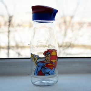 sticla apa cu desen animat