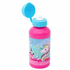 Sticla apa cu capac pentru copii, model Unicornul Magic, 500 ml