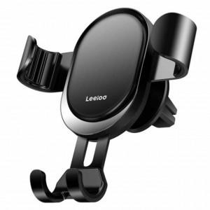 Suport auto universal pentru telefon, cu clips pentru ventilatie, negru