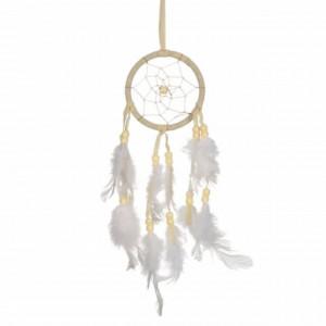 Talisman prinzator de vise Pufo Dreams, cu pene albe, 26 cm