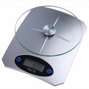 Cantar electronic de bucatarie cu tava din sticla, afisaj digital, sarcina maxima 5 kg