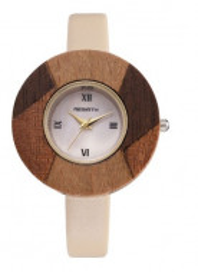 ceas dama cadran lemn