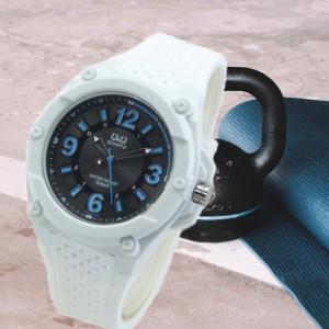 Ceas sport barbatesc alb Q&Q VR50J005Y, curea silicon, alb