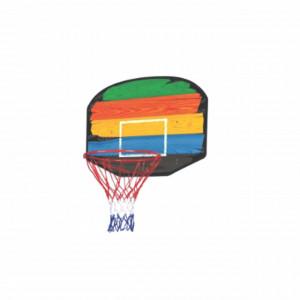 Cos de baschet pentru copii si adulti, model multicolor, 80 x 60 cm, Pufo