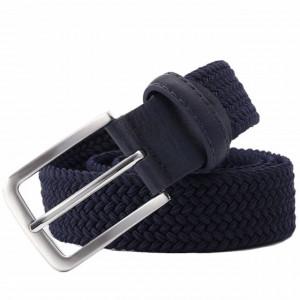 Curea elastica Pufo Casual pentru barbati 105-125 x 3.5 cm, reglabila, albastru