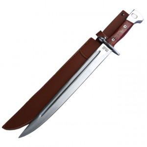 Cutit baioneta inscriptionat AK-47 CCCP 50cm, teaca piele ecologica