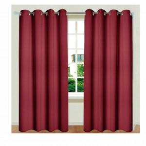 draperie rosie camera cu inele