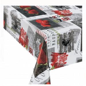 Fata de masa tip musama Pufo, model capsune, 140 x 180 cm