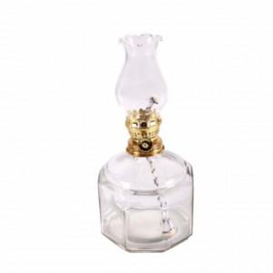 Lampa Pufo Glass din sticla pentru ulei cu fitil, 21 cm