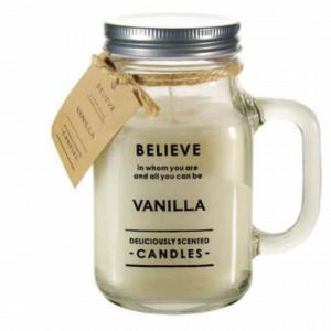 Lumanare parfumata Believe aroma de vanilie, 900 g