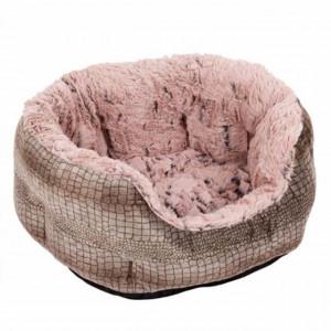 Pat confortabil rotund pentru pisici sau caini, Pufo, 45 cm