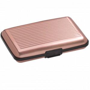 Portofel pentru carduri sau documente cu 6 locuri, roz