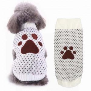 Pulover tricotat Pufo pentru caini, model Playful dots