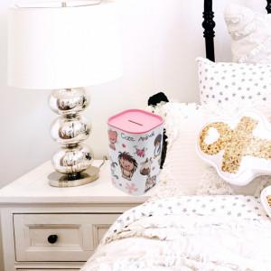 Pusculita Animale dragute pentru fetite, roz, 12 cm