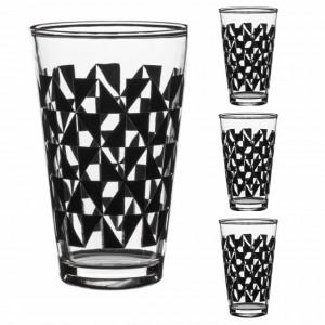 Set 3 pahare Pufo Form din sticla pentru bauturi, 300 ml