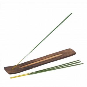 Set 40 betisoare parfumate cu aroma de iasomie si suport din lemn 25 cm, potrivit pentru aromaterapie, Pufo