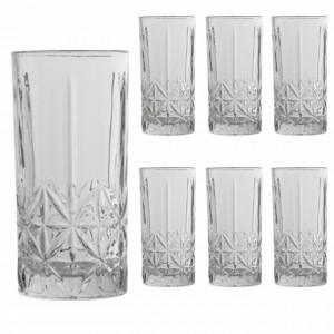 Set 6 pahare Pufo Elegant din sticla pentru bauturi, 350 ml