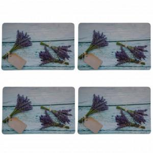 Set suport farfurie pentru servirea mesei, model Lavender, 4 bucati, 43 x 28 cm